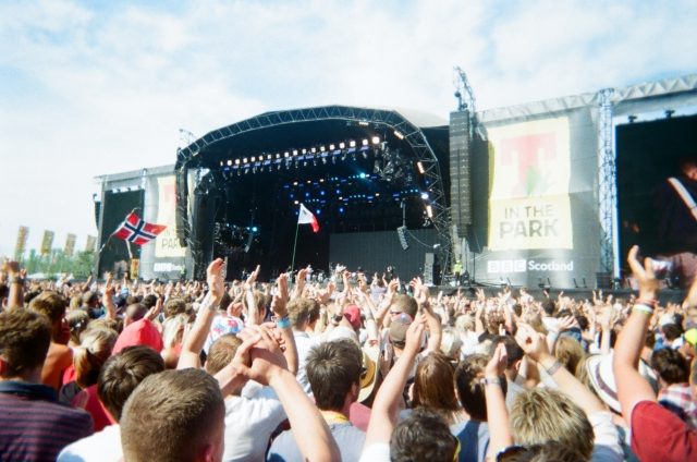Two Door Cinema Club on the main stage
