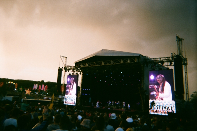 The sky on the final night of Bestival